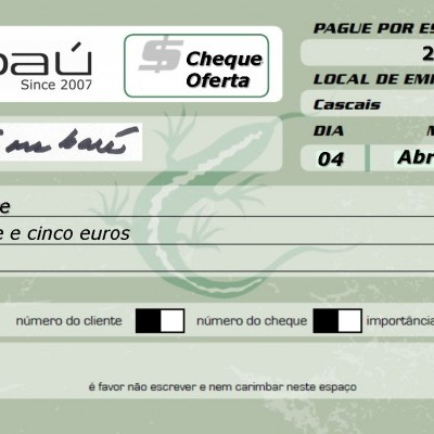 Cheque-Oferta Embaú 25