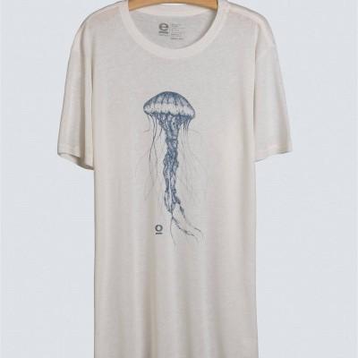 T-Shirt Osklen Eco Fluid Linen New Jelly Fish