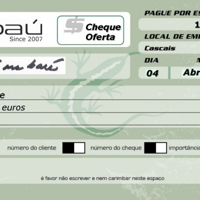 Cheque-Oferta Embaú 100