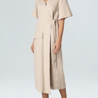 Vestido Wrap Natural Rustic Osklen