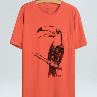 T-shirt Osklen Strong Tucano Chalk