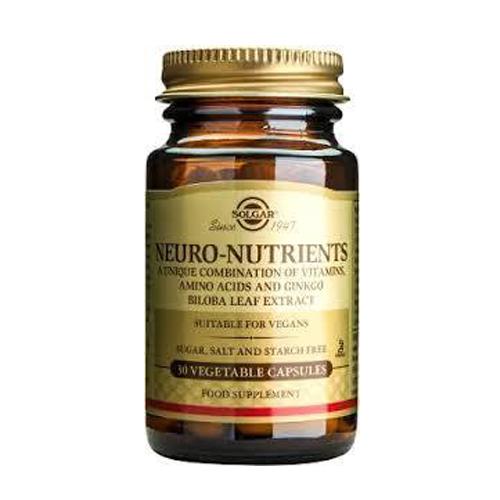 Neuro-Nutrientes (Vitaminas, Aminoácidos e Ginkgo Biloba) 30 Cápsulas Solgar
