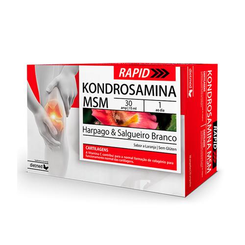 Kondrosamina MSM Rapid - 30 Ampolas Dietmed