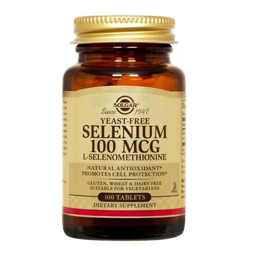 Selénio 100ug (Isento de Levedura) 100 Comprimidos Solgar