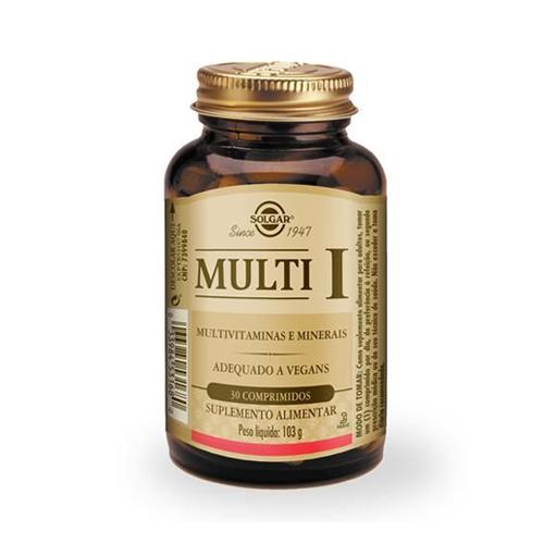 Multi-I Multivitaminas e Minerais 30 Comprimidos Solgar