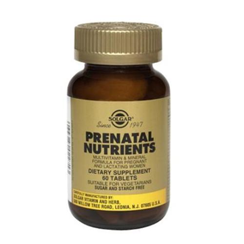 Nutrientes Prenatal (Multivitaminas e Minerais Gravidez e Amamentação) 60 Comprimidos Solgar