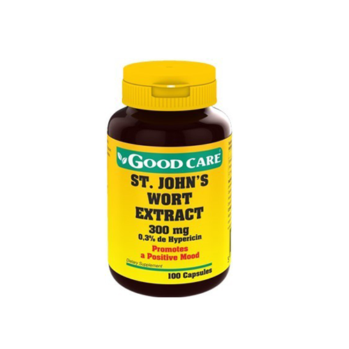 St. John's Wort Extract 300mg - 100 Cápsulas Good Care