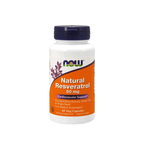 Natural Resveratrol 50mg - 60 Cápsulas Now