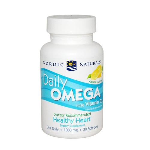 Daily Omega 3 + Vitamina D3 - 30 Cápsulas Nordic Naturals