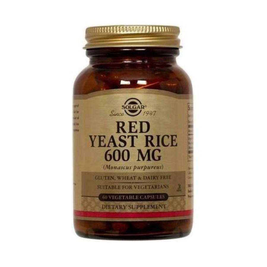 Arroz Vermelho Fermentado 600mg 60 Cápsulas Solgar