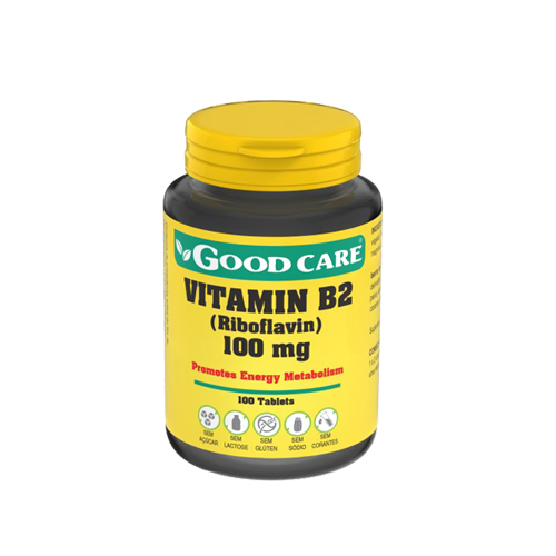 Riboflavin B2 100mg - 100 Cápsulas Good Care