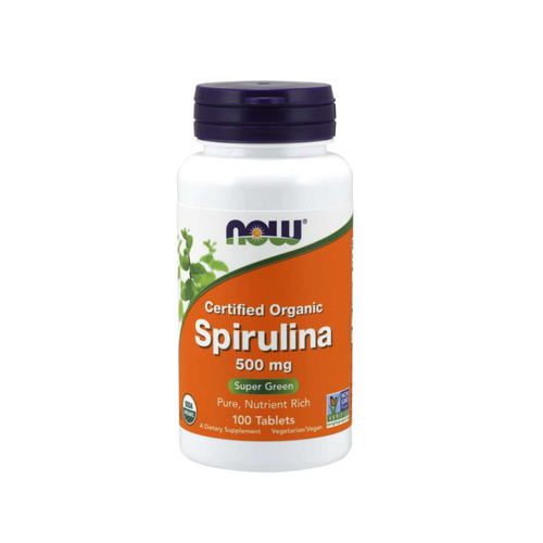 Spirulina 500mg - 100 Comprimidos Now