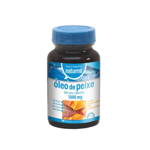 Óleo de Peixe Omega 3 - 1000mg - 60 Cápsulas Naturmil