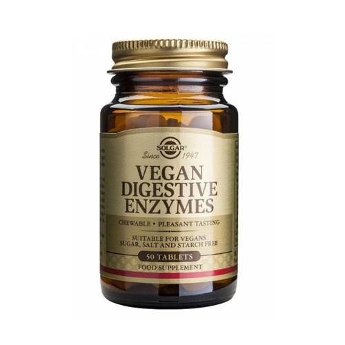 Enzimas Digestivas Vegan 50 Comprimidos Solgar