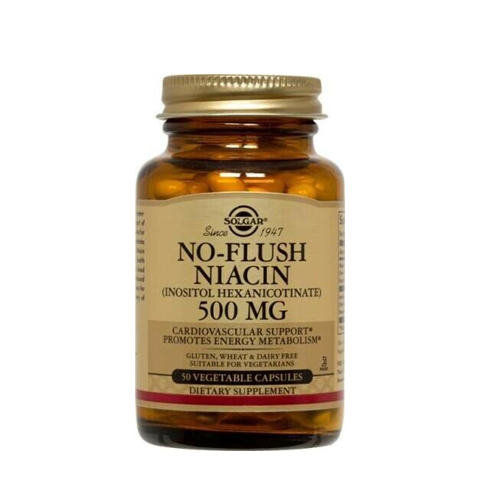 No-Flush Niacina 500mg - 50 Cápsulas Solgar