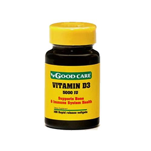 Vitamina D3 5000IU - 100 Cápsulas Good Care