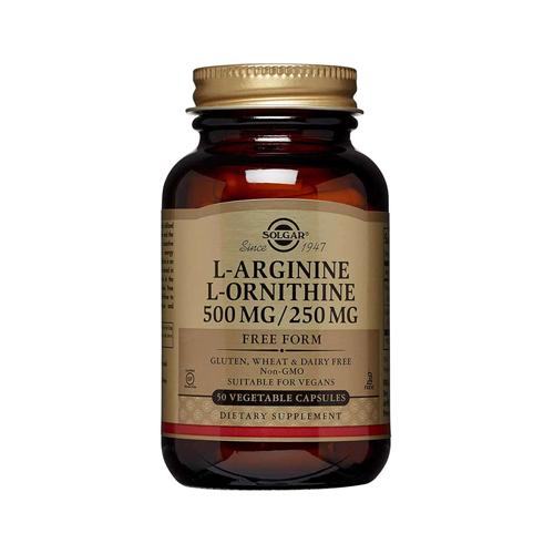 L-Arginina + L-Ornitina 500/250 - 50 Cápsulas Solgar