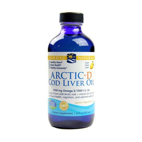 Arctic-D3 Óleo Fígado Bacalhau 237ml Nordic Naturals