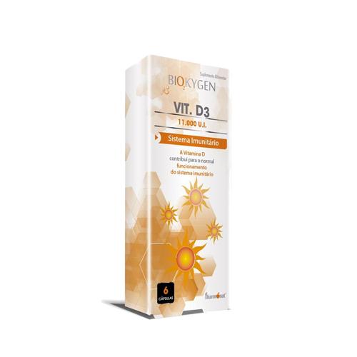 Biokygen Vitamina D3 11.000UI - 6 Cápsulas Fharmonat