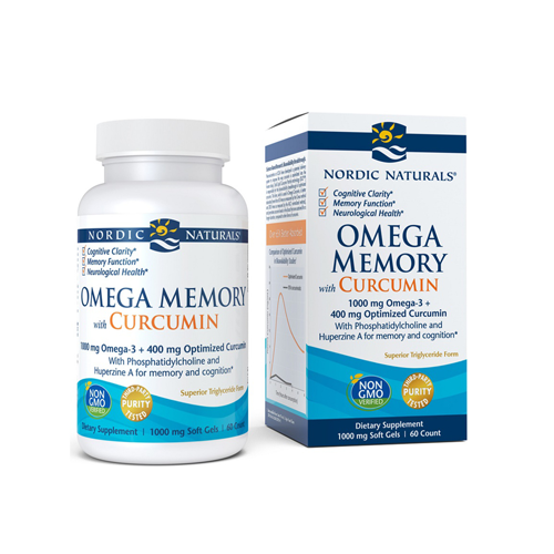 Omega Memory + Curcumin 1000mg - 60 Cápsulas Nordic Naturals