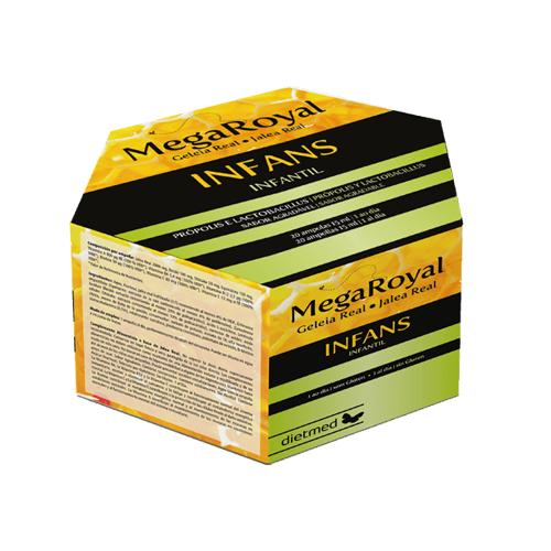 Mega Royal Infans 20 ampolas Dietmed
