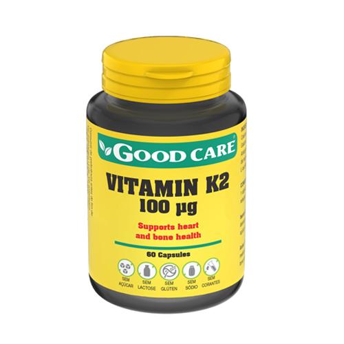 Vitamina K2 100ug - 60 Cápsulas Good Care