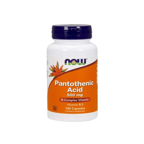 Pantothenic Acid 500mg - 100 Cápsulas Now