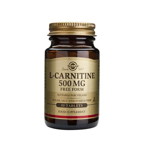 L-Carnitina 500mg - 30 Comprimidos Solgar