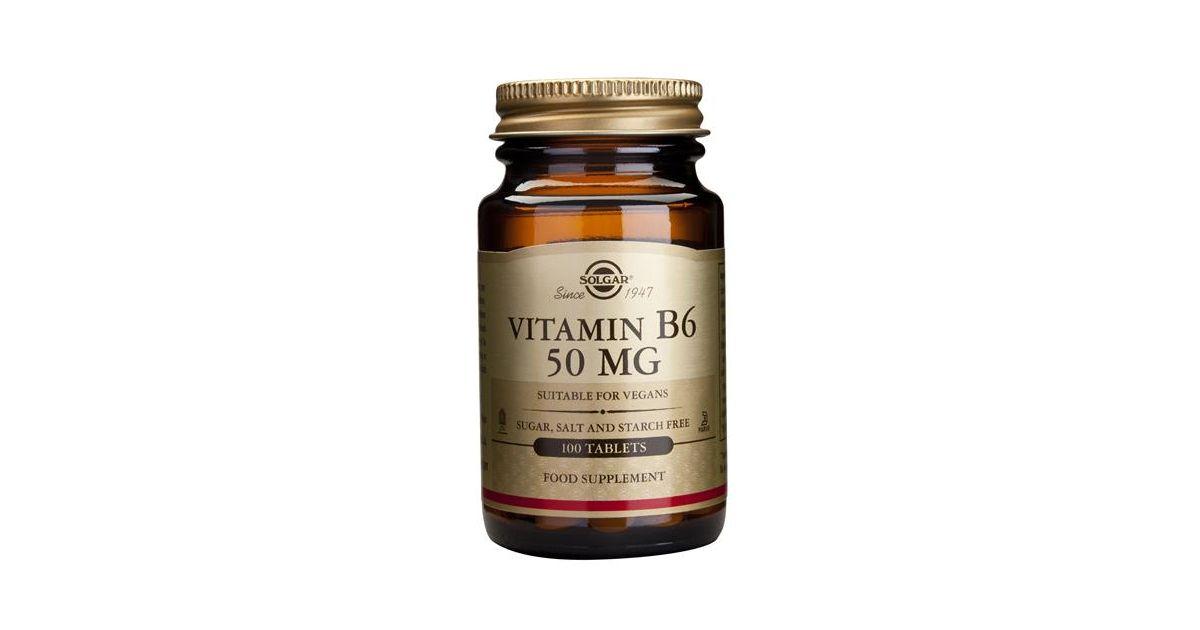 Vitamina B6 50mg - 100 Comprimidos Solgar