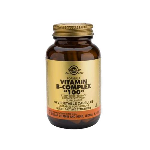 """Complexo Vitamina B """"100"""" - 50 Cápsulas Solgar"""