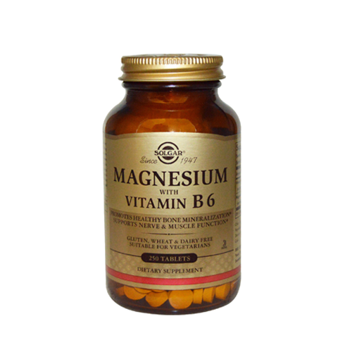 Magnésio com Vitamina B6 - 250 Comprimidos Solgar