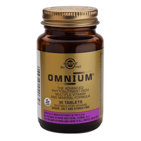 Omnium  (Fitonutrientes, Multivitaminas e Minerais) 30 Comprimidos Solgar