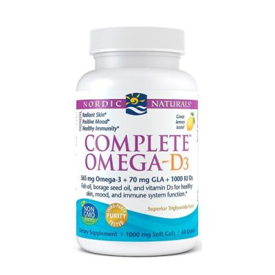 Complete Omega D3 - 60 Cápsulas Nordic Naturals