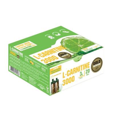 L-Carnitine 3000 Limão - 20 Ampolas Gold Nutrition