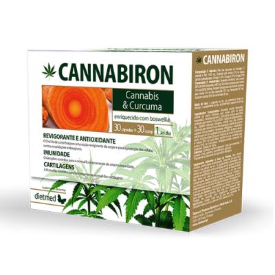 Cannabiron Cannabis e Curcuma 30 Cápsulas + 30 Comprimidos Dietmed