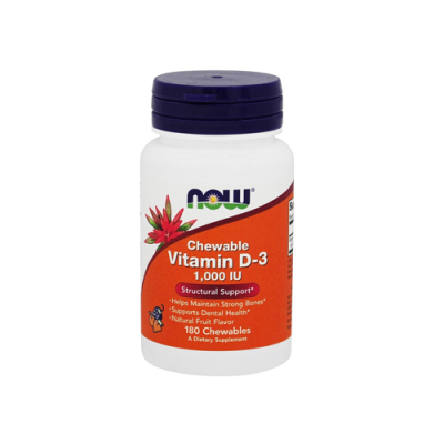 Chewable Vitamin D3 1,000 IU - 180 Cápsulas Now