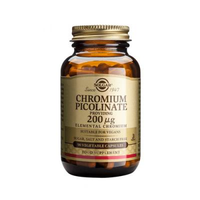 Picolinato de Crómio 200ug 90 Cápsulas Solgar