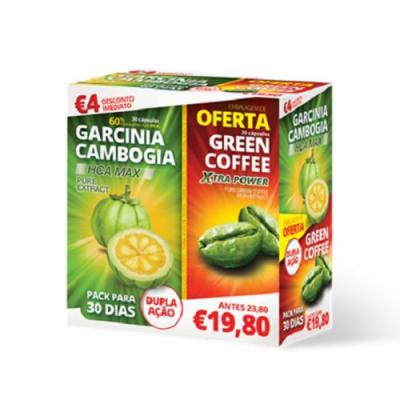 Pack Garcinia Cambogia + Oferta Green Coffee 30 + 30 Cápsulas