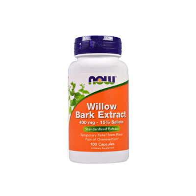 Willow Bark Extract 400mg - 100 Cápsulas Now