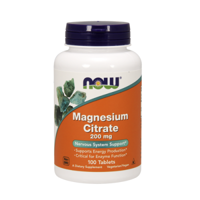 Magnesium Citrate 200mg - 100 Comprimidos Now