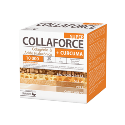Collaforce Super 10.000 + Curcuma - 20 Carteiras Dietmed