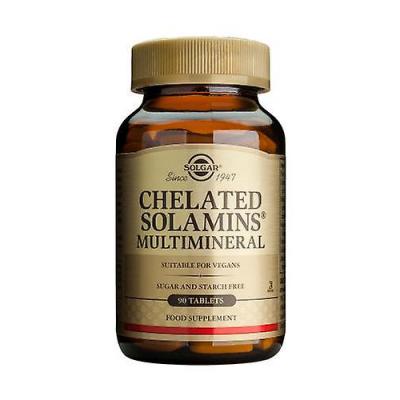Multiminerais Quelatados 90 Comprimidos Solgar