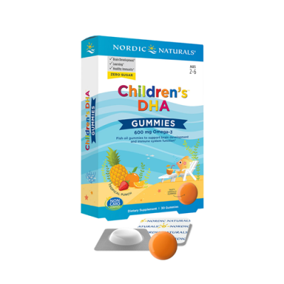 Children's DHA Gummies 600mg Omega 3 - 30 Gomas Nordic Naturals