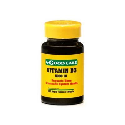 Vitamina D3 1000IU - 100 Cápsulas Good Care