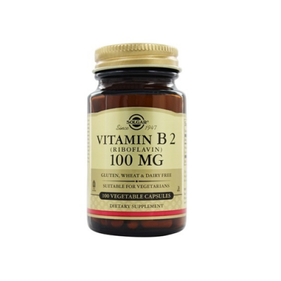 Vitamina B2 100mg - 100 Cápsulas Solgar
