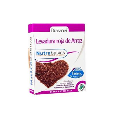 Levedura de Arroz Vermelho - 30 Cápsulas Nutrabasics Drasanvi