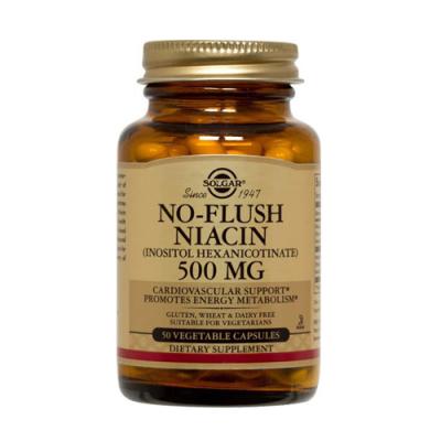 Niacina 500mg - 50 Cápsulas Solgar