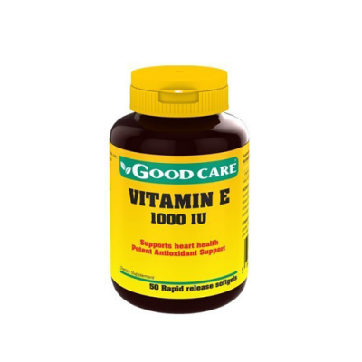 Vitamina E 1000IU - 50 Cápsulas Good Care
