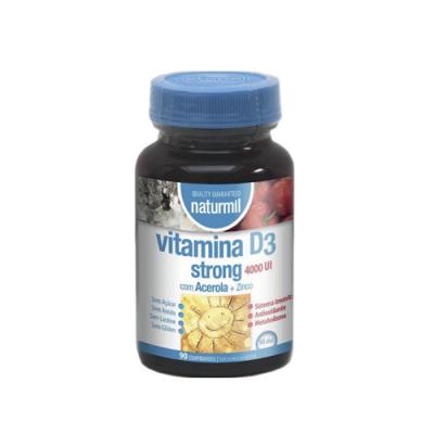 Vitamina D3 Strong 4000UI - 90 Comprimidos Naturmil