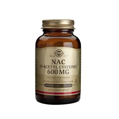 NAC N-Acetil Cisteína 600mg Forma Livre 60 Cápsulas Solgar